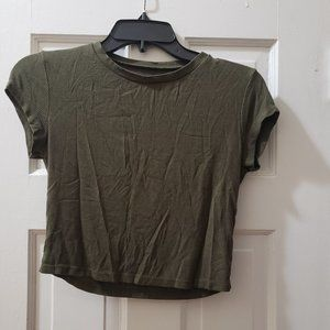Short-Sleeve Crop Top by Charlotte Russe. Size S